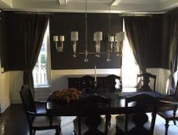 Custom Dining room drapery Toronto 416-783-7373 By Drapery King